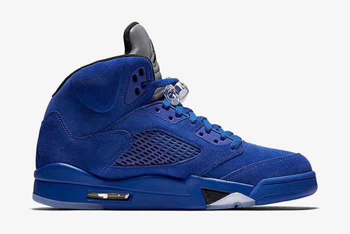 Air Jordan 5 Blue Suede 4