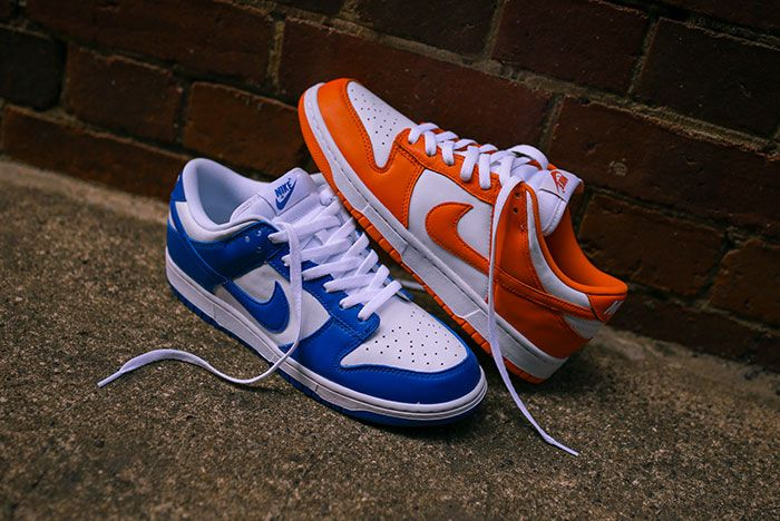 Nike Dunk Low Kentucky Syracuse Up Close Hero Shot Laced Sneaker Freaker4
