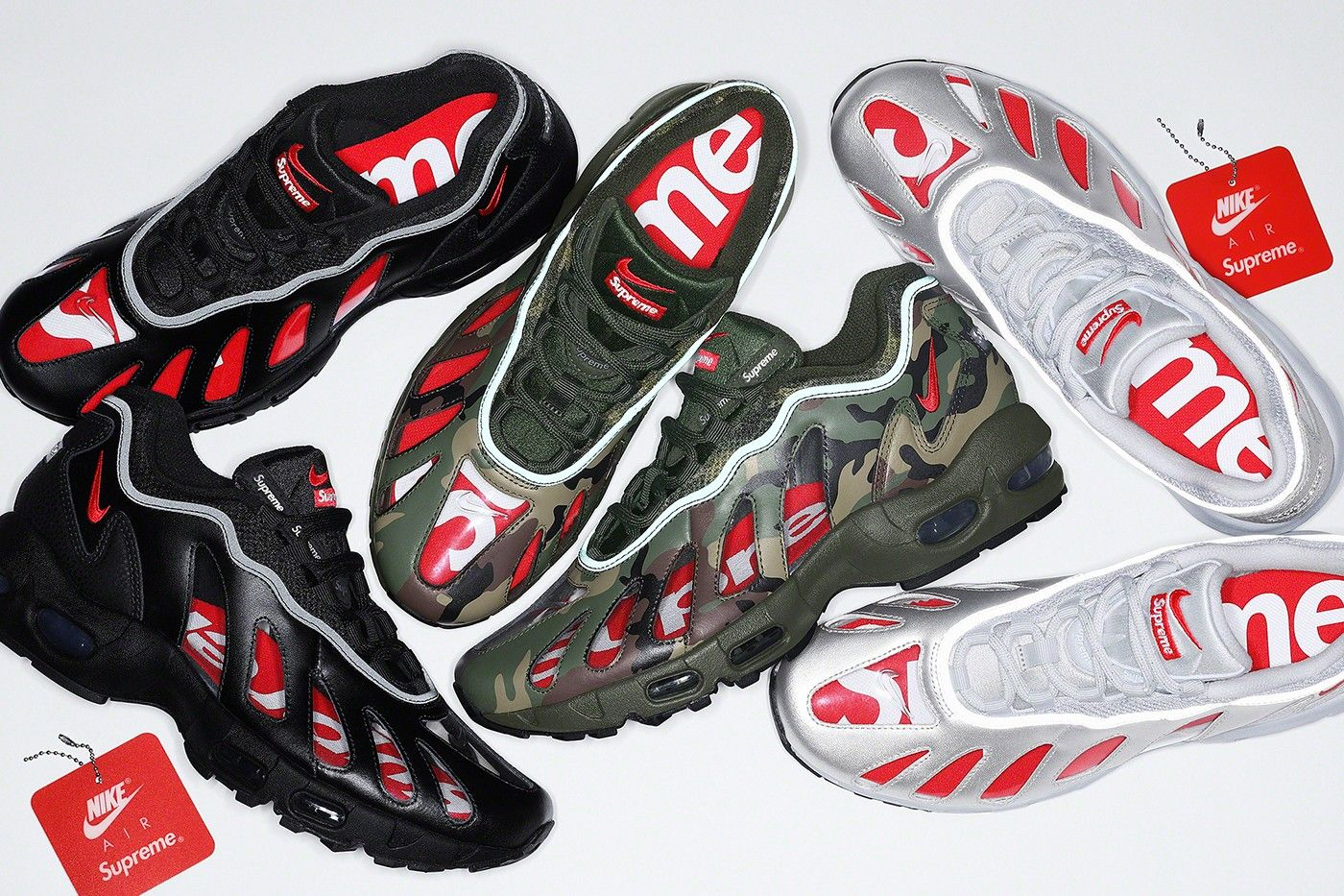 Supreme x Nike Air Max 96 official pics