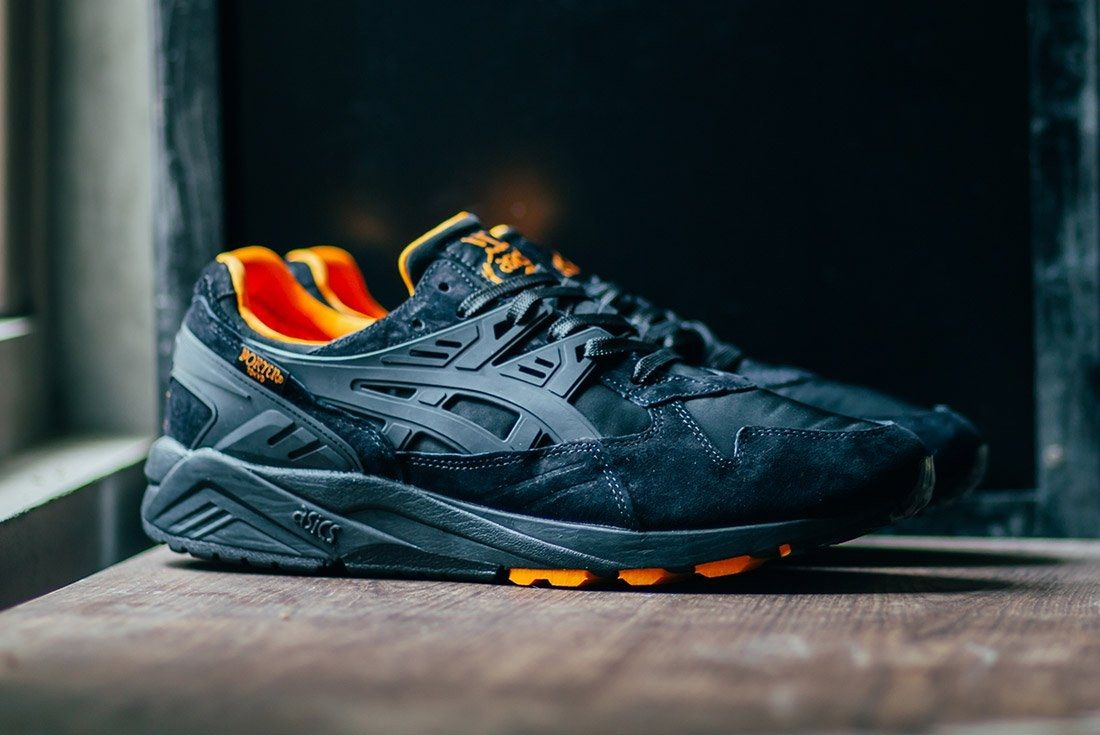 Porter Asics Gel Kayano Trainer Black Orange 1