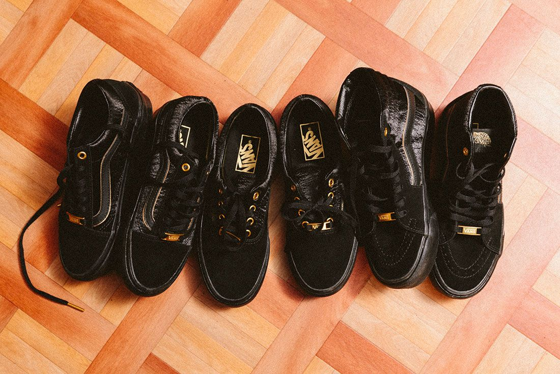 Vans Black Gold Pack 35Jd Sports Exclusive