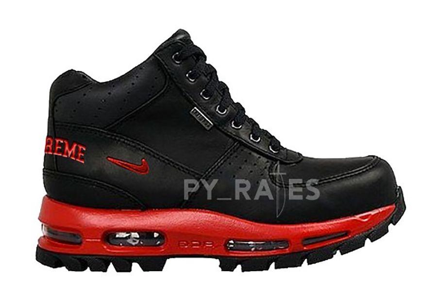 Nike Supreme Air Max Goadome Red Black Right