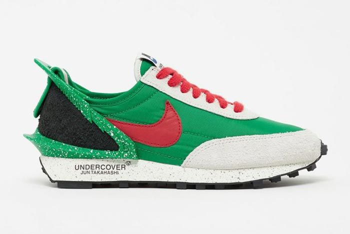 Undercover Nike Daybreak Green Red Lateral Side Shot