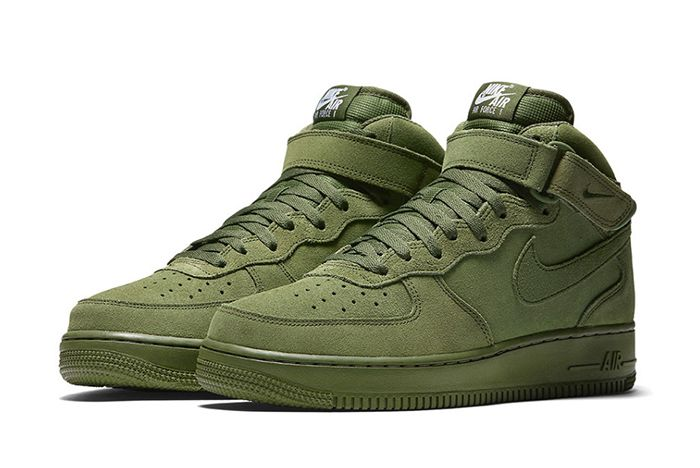 Nike Air Force 1 Mid Olive2