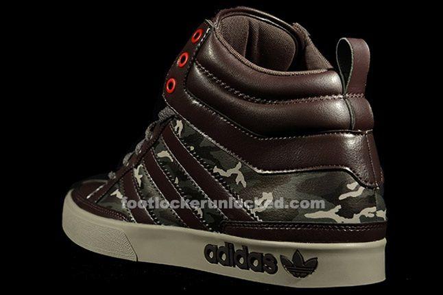 Adidas Top Court Camo Brown Heel 1