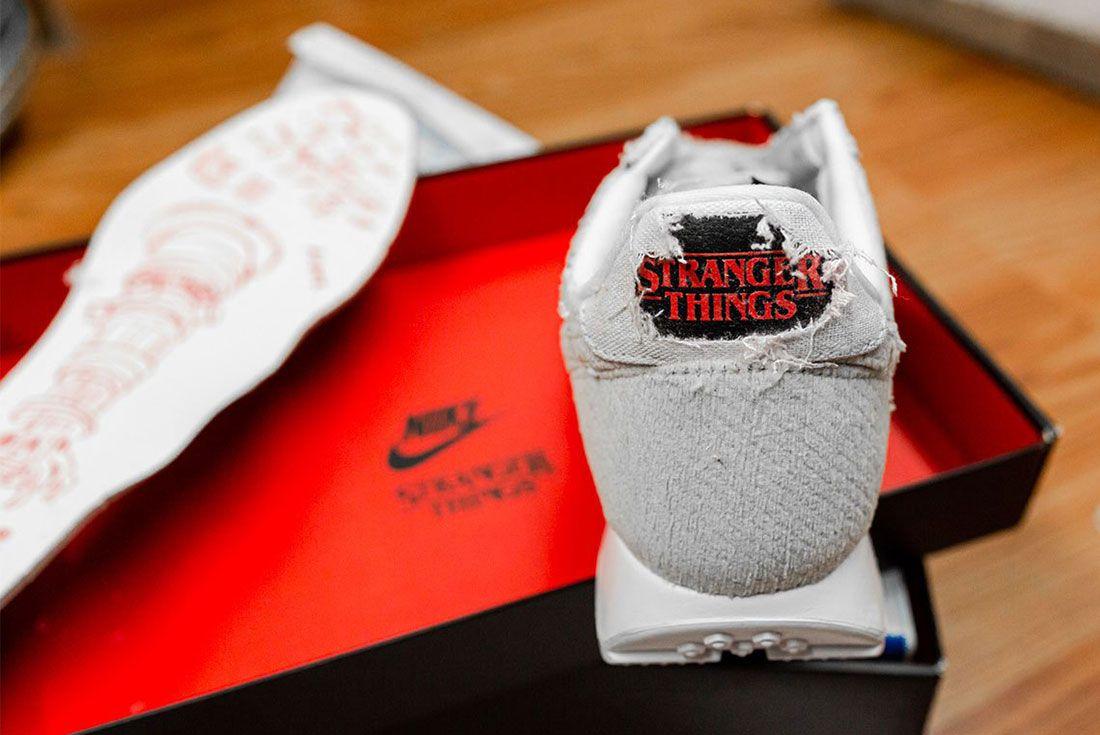 Stranger Things Nike Tailwind Grey Black 9 Heel