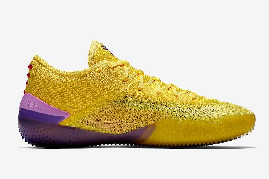 Nike Kobe Ad Nxt 360 Yellow Strike Lakers Aq1087 700 Side Sneaker Freaker