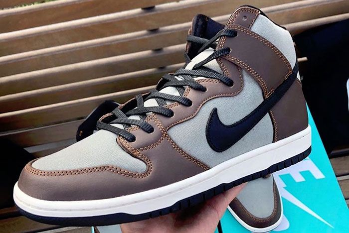 Nike Sb Dunk High Pro Baroque Brown Bq6826 201 Release Date 1 Side