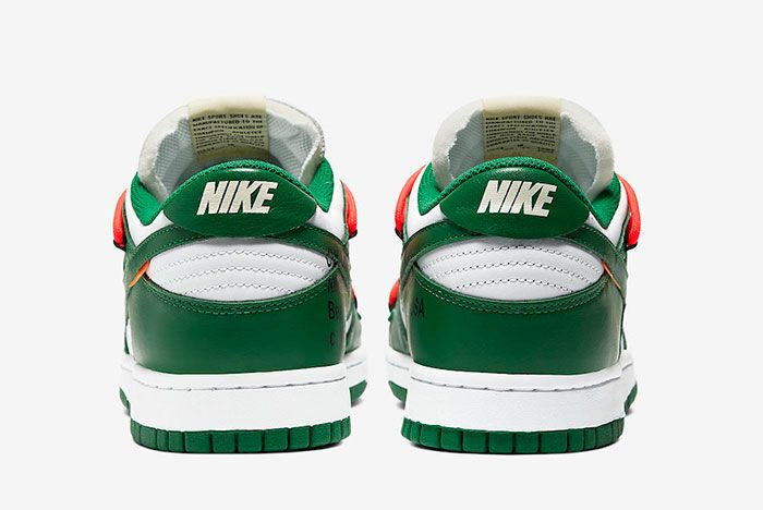 Off White Nike Dunk Low White Green Ct0856 100 Heels