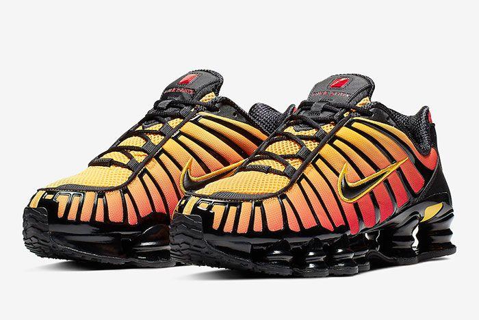Nike Shox Tl Sunrise Av3595 004 Front Angle