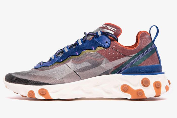 Nike React Element 87 Blue Red Left