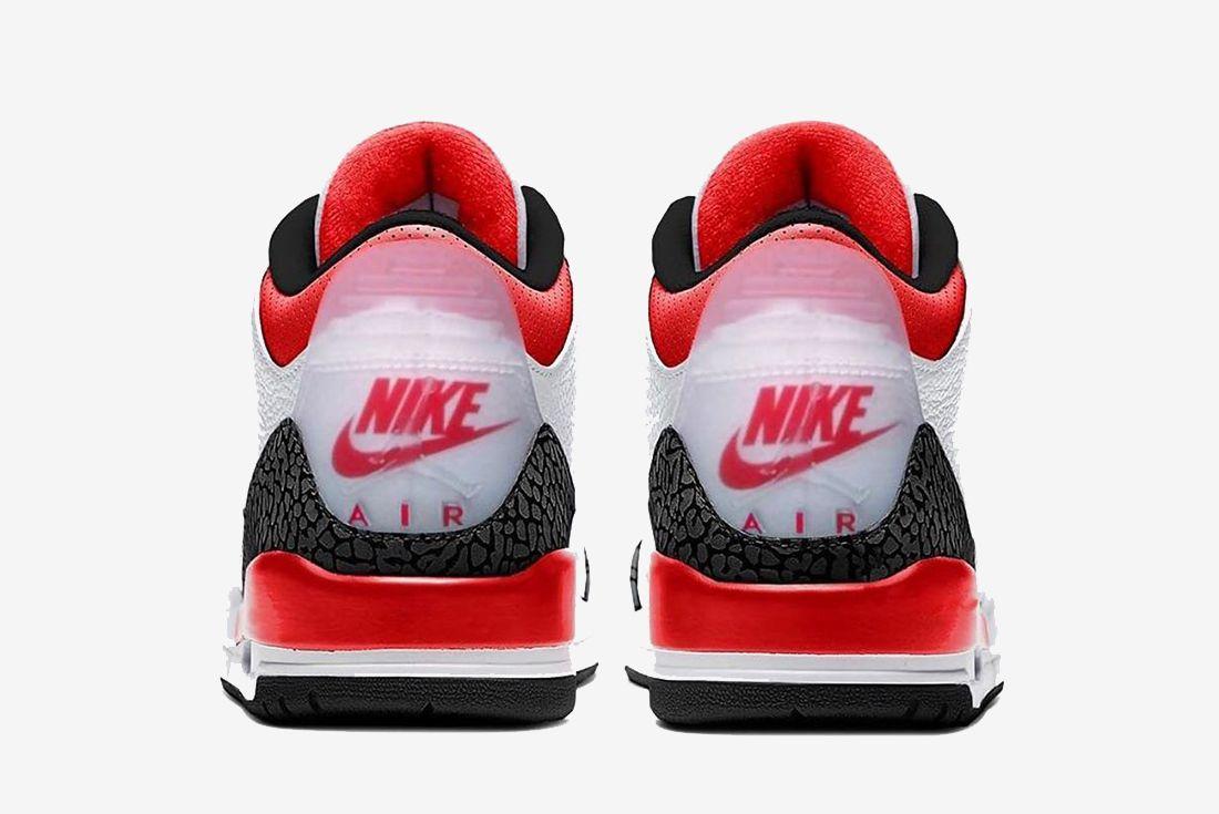 Air Jordan 3 Fire Red Heel