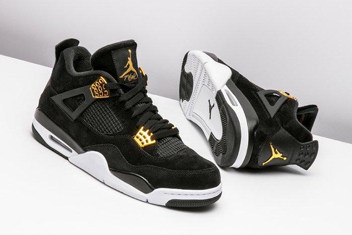 Air Jordan 4 Royalty Black Gold 1