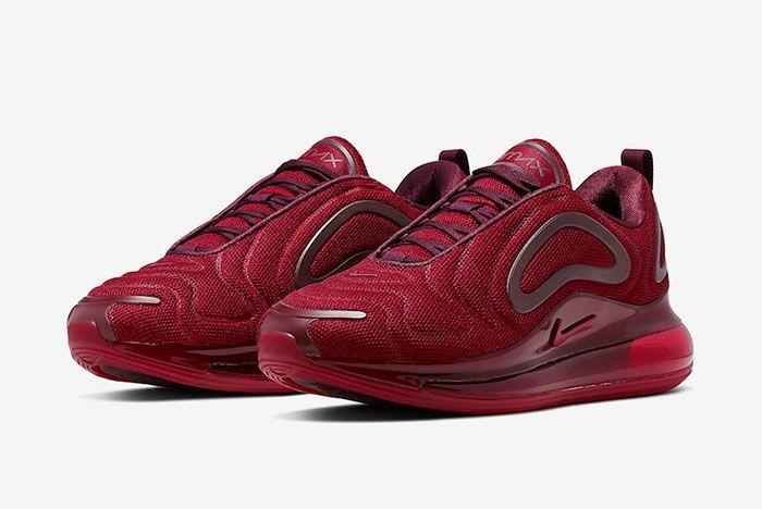 Nike Air Max 720 University Red Night Maroon Ao2924 601 Front Angle