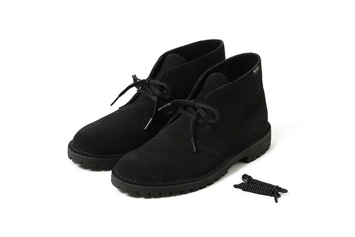 Clarks Beamsdesert Rock Gore Tex Black Front Angle