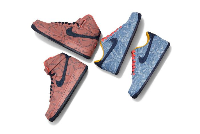Levis X Nike Air Force 1 Top Shot Full
