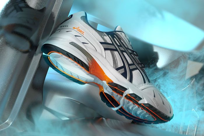 Asics Gel 1090 Silver Lateral Side Shot