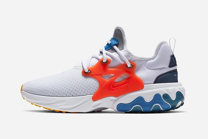 Nike Air Presto React Red White Blue Right Side Shot