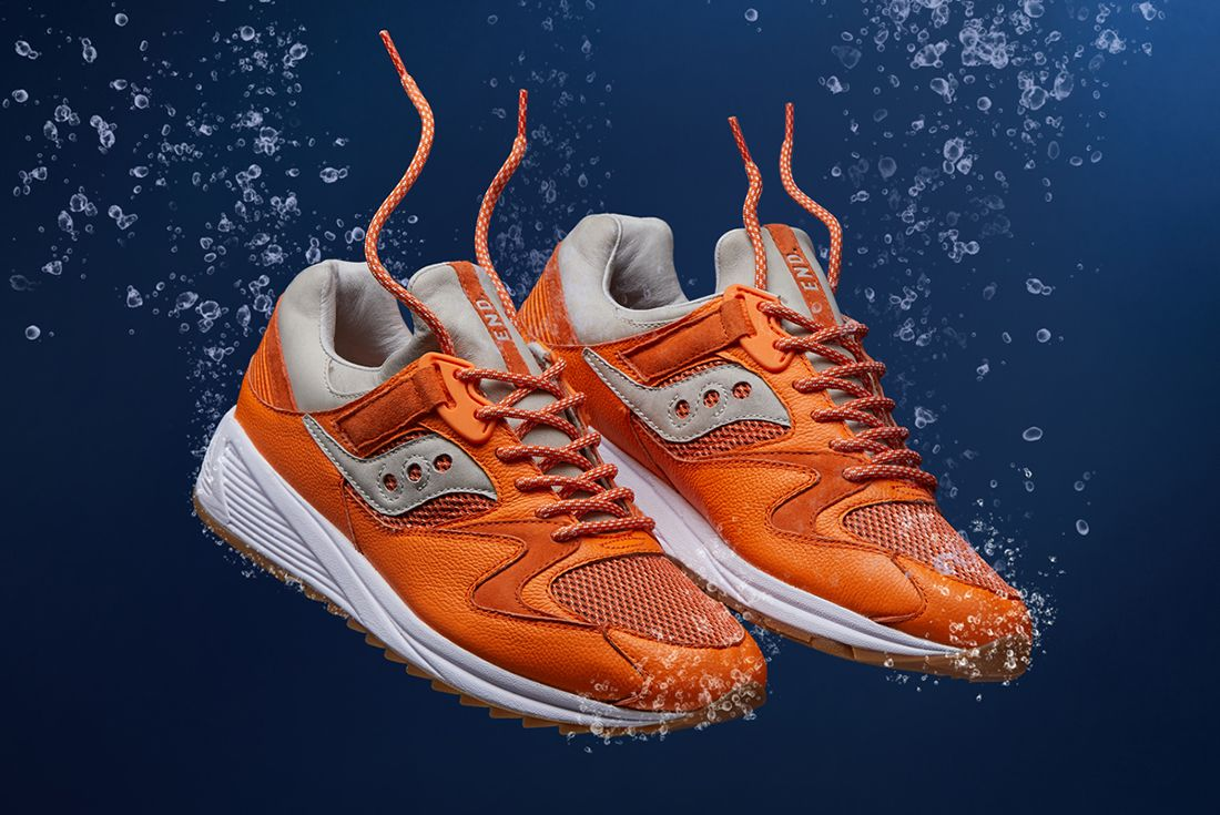 End X Saucony Grid 8500 Lobster 2