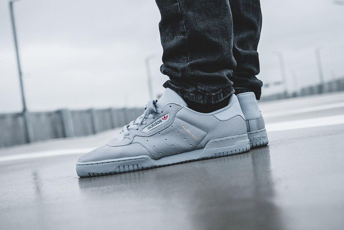 Adidas Yeezy Powerphase Grey On Foot Sneaker Freaker 1