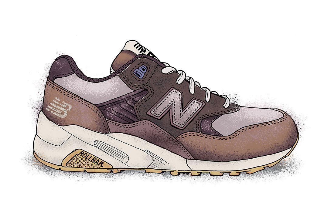 New Balance 580 Illustration