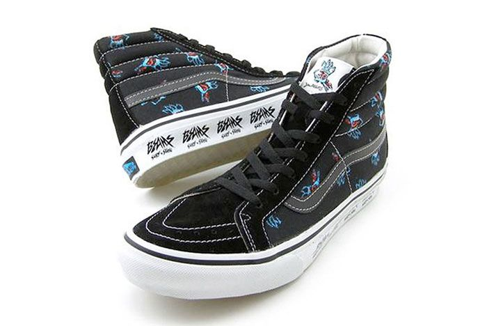 Vans Sk8 Hi Beams Jim Phillips Black