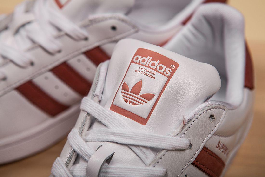 Adidas Superstar Whiteraw Pink 2