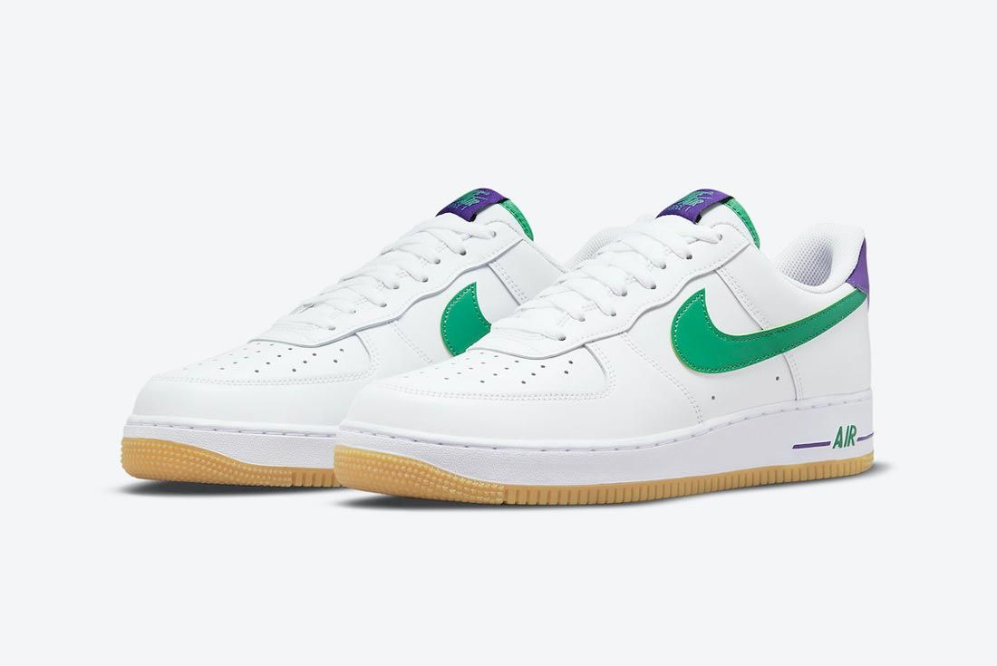 Nike Air Force 1 White/Purple/Green