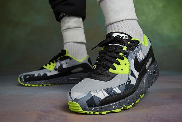 Nike Air Max 90 Premium By You Volt Lateral Side Shot