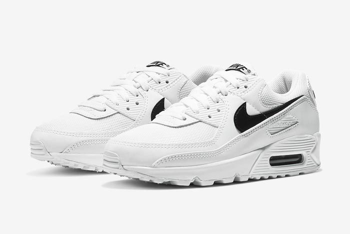 Nike Air Max 90 White Black Womens Pair