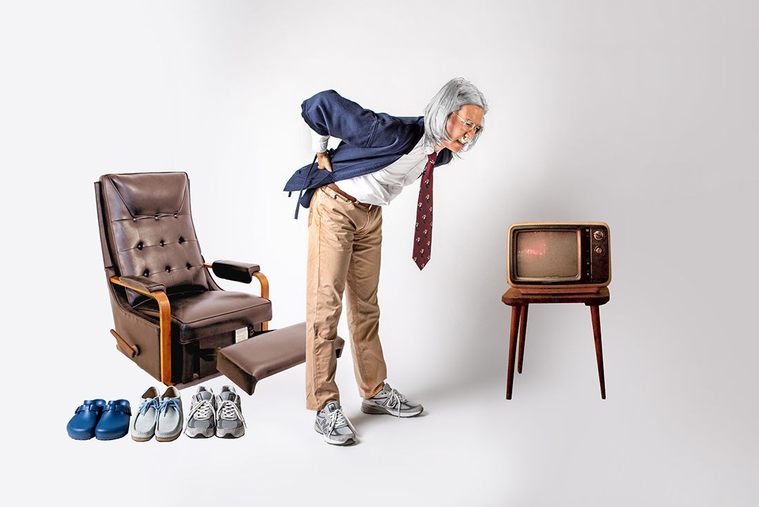 Old Man Bent Over Wearing Grey Sneakers Sneaker Freaker Minh