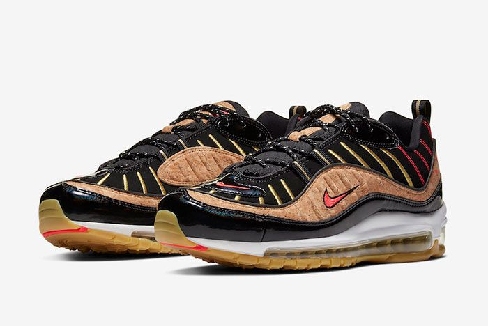 Nike Air Max 98 Cork New Years Ct1173 001 Front Angle