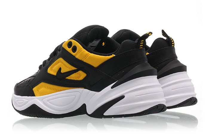 Nike M2 K Tekno Black University Gold Ao3108 014 Release Date 3Pair Heel