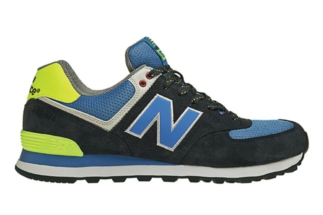 New Balance 574 The Yacht Club Collection Blue And Yellow Profile 1