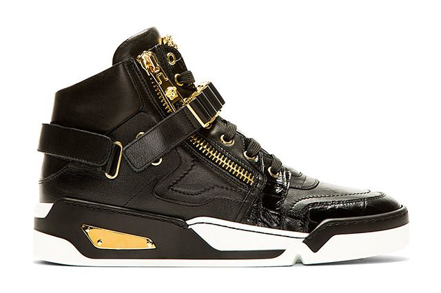 Versace Black Leather High Top Bcooc 2