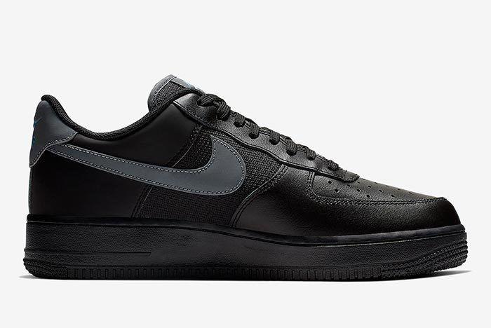 Nike Air Force 1 Black Blue 2