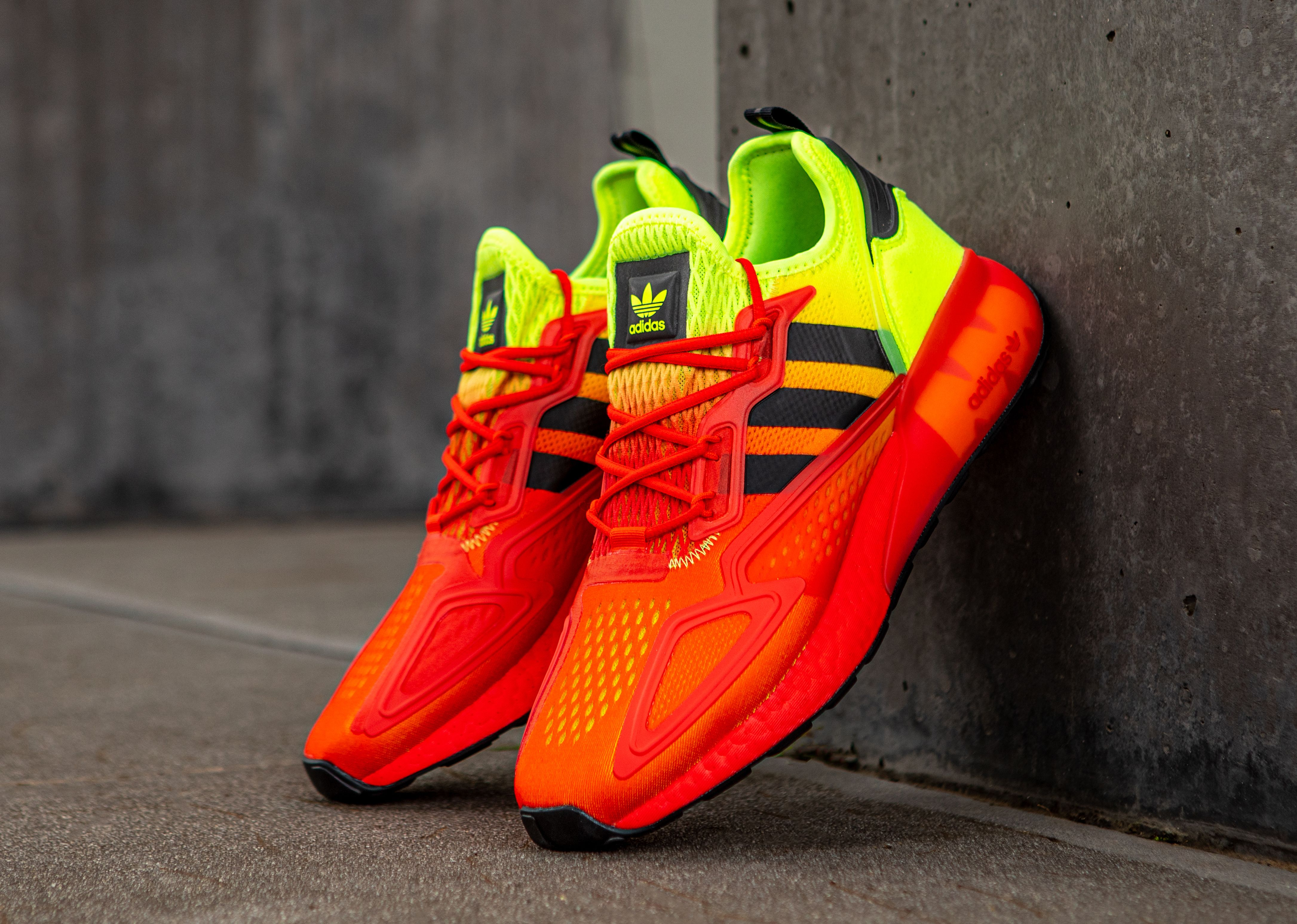 adidas ZX 2K BOOST (Hi-Res Red/Solar Yellow)
