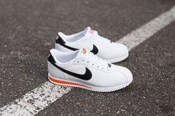 Nike Cortez Basic Leather White Wlack Orangethumb