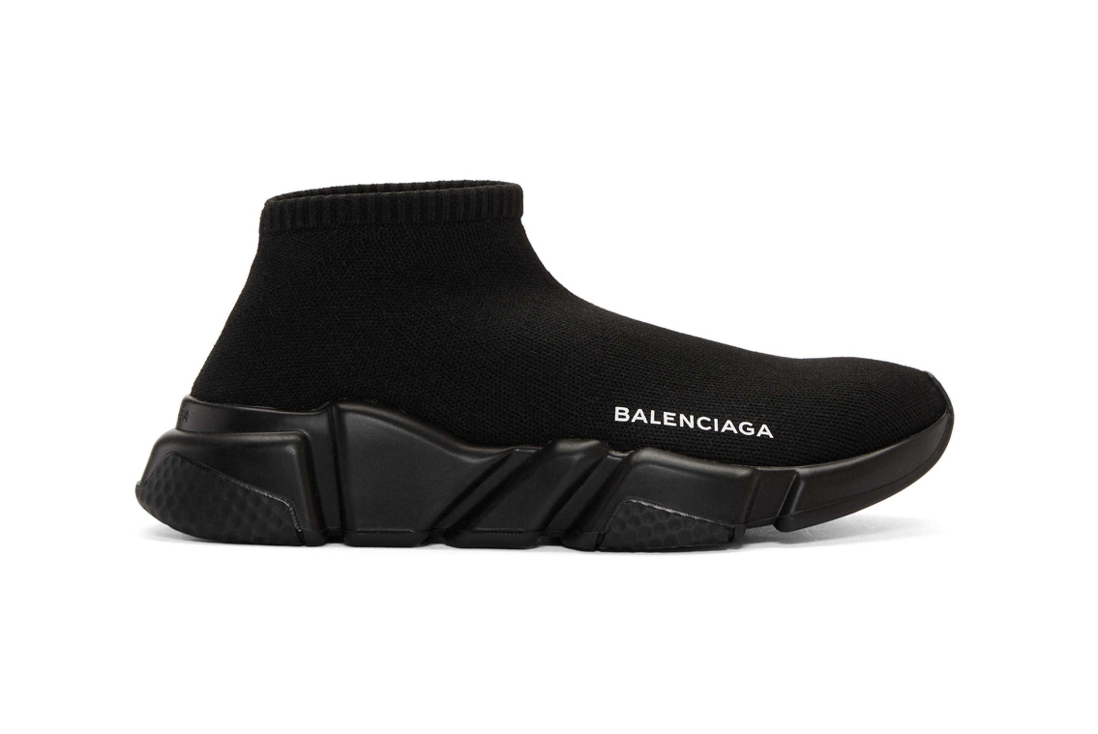 Balenciaga Speed Low High Top Sneakers Black Navy 1 Sneaker Freaker