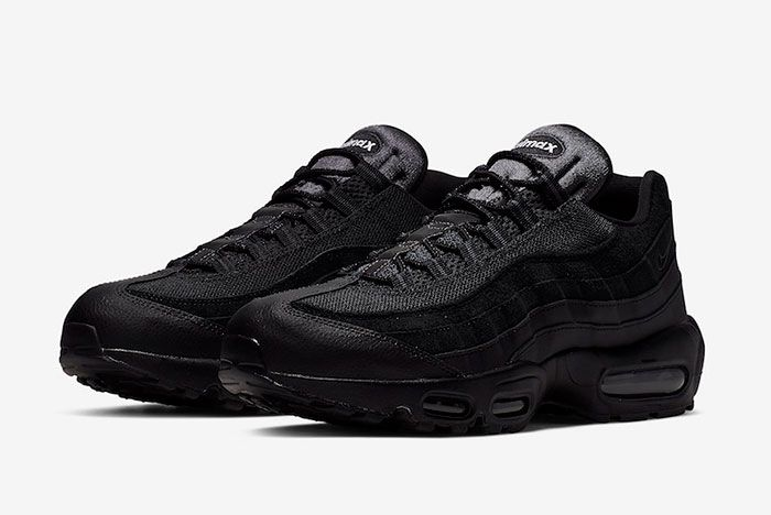 Nike Air Max 95 Essential Triple Black At9865 001 Release Date 4 Pair
