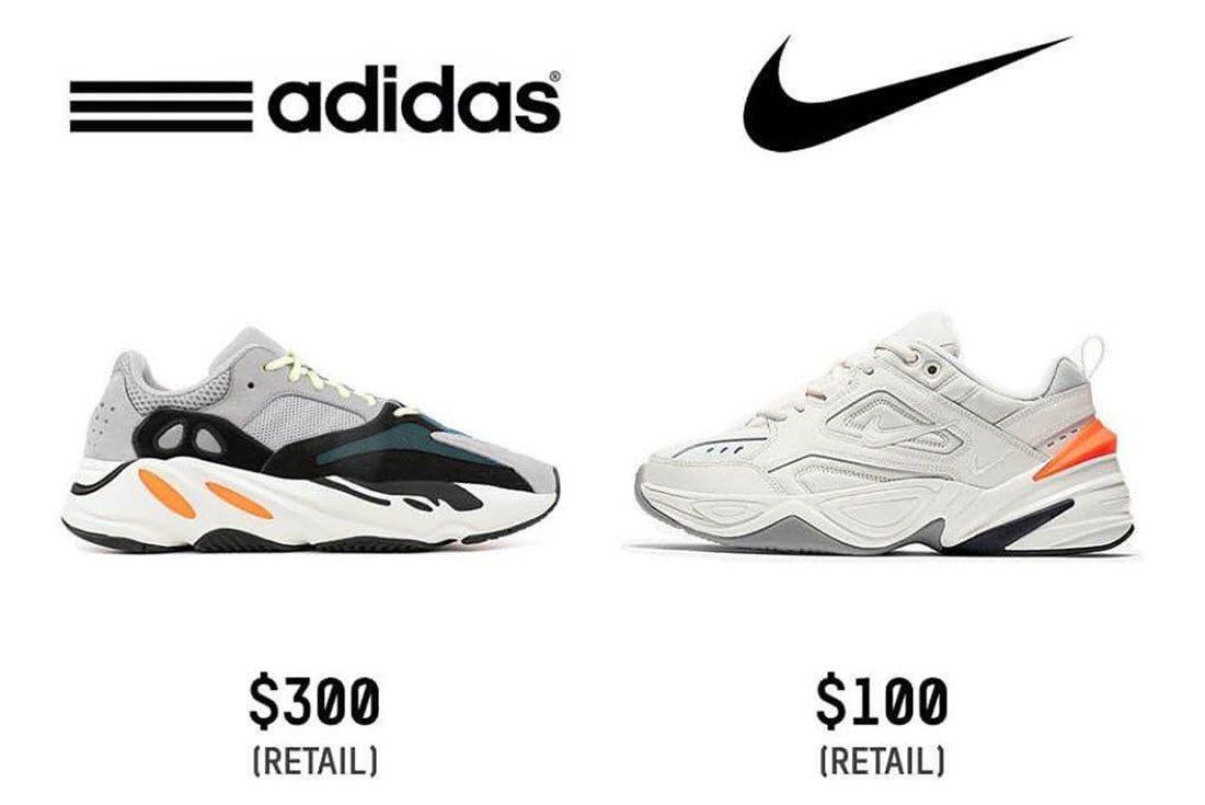 Sneaker Showdown Adidas Yeezy 700 Vs  Nike M2K Tekno 5
