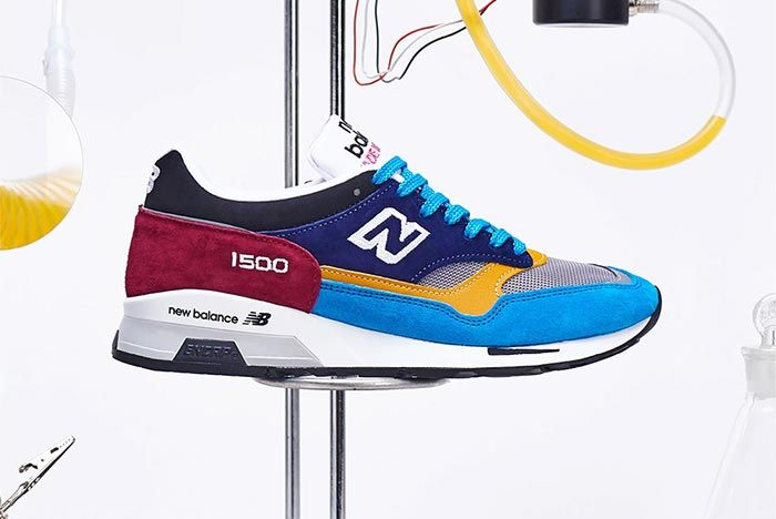 New Balance 1500 Sample Lab Red Blue Lateral Side Shot