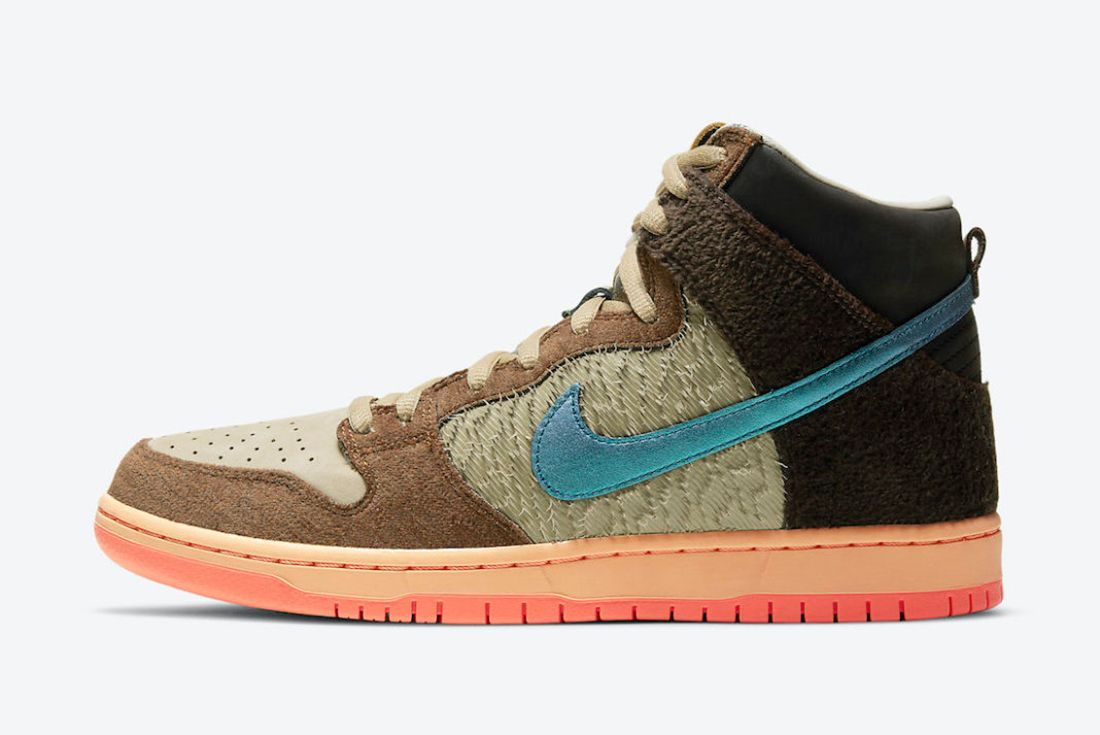 Concepts x Nike SB Dunk High 'TurDUNKen' side