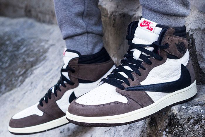 Travis Scott X Jordan 1 On Foot Sneaker Freaker1