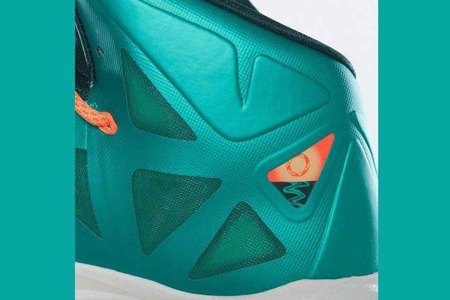 Nike Lebron X Dolphins European Release Heel Detail 1