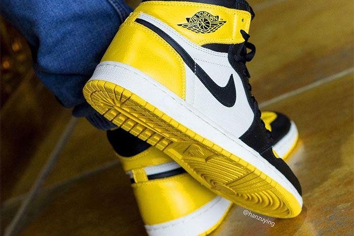 Air Jordan 1 Yellow Toe Sole