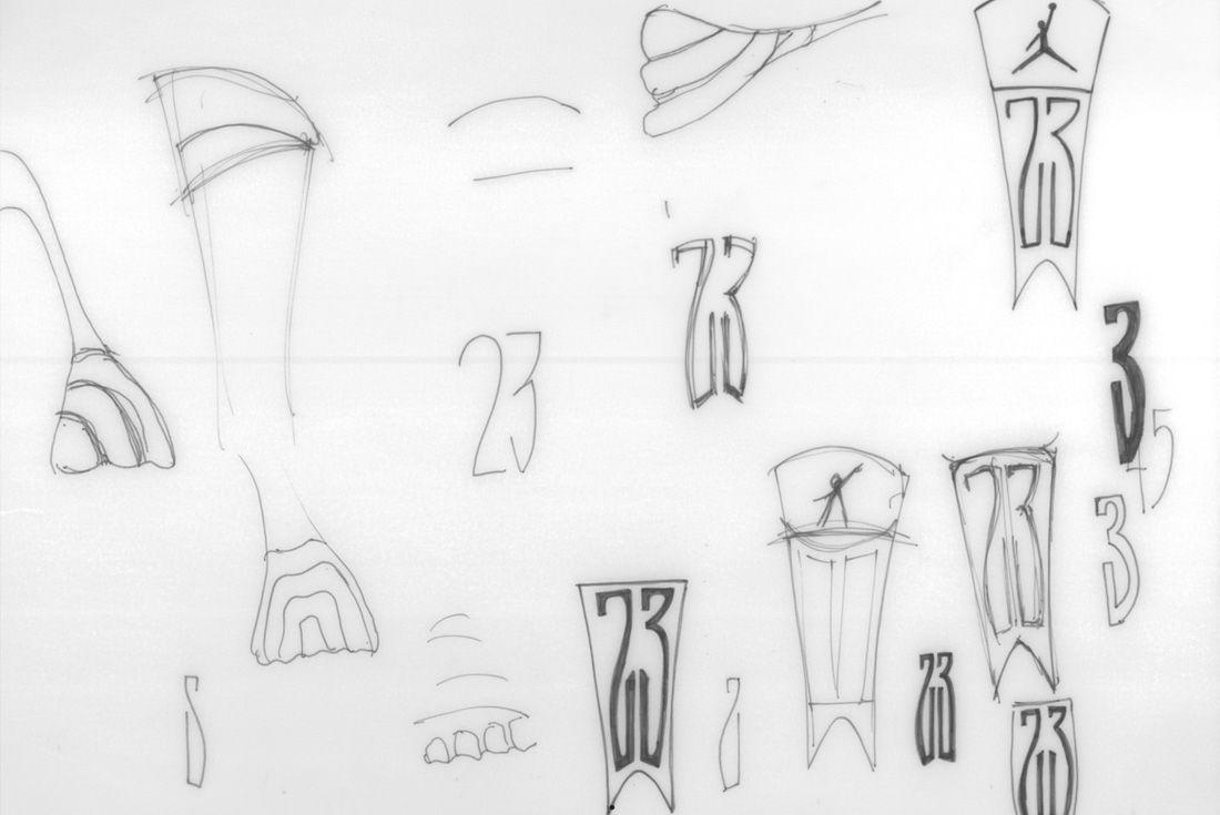Air Jordan 14 sketch
