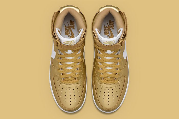 Gold Nike Air Force 1 4