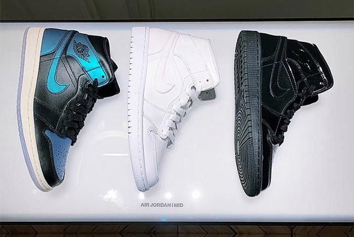 Air Jordan 1 Womens White Black Blue Above Shot