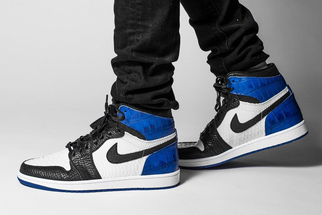 Bespoke Fragment X Air Jordan 1S By The Shoe Surgeon